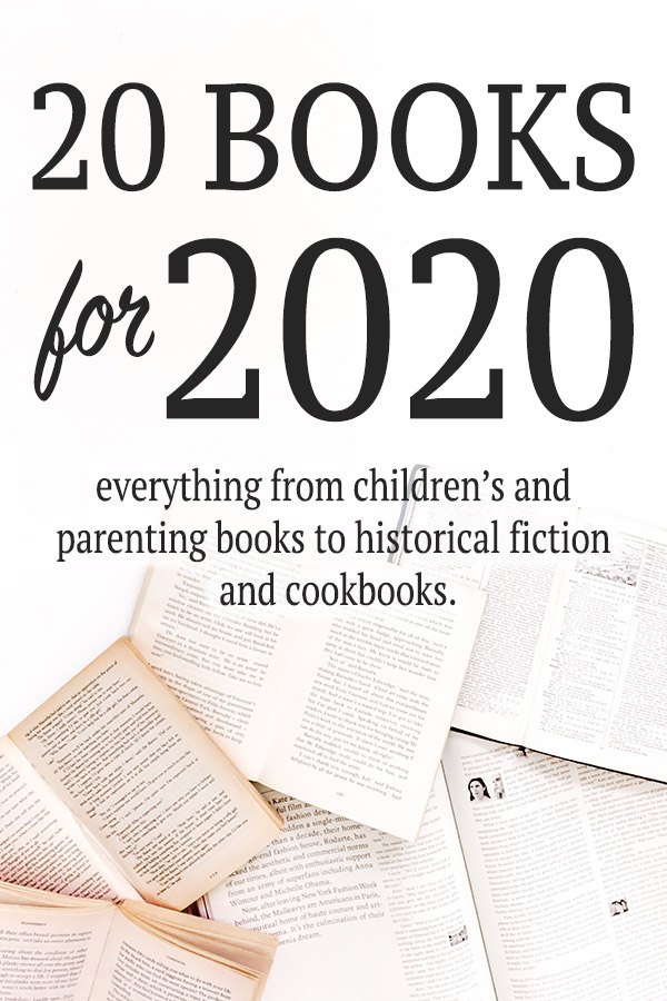 20 books for 2020 graphic